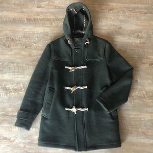 Brooks Brothers Dark Green Duffle Coat